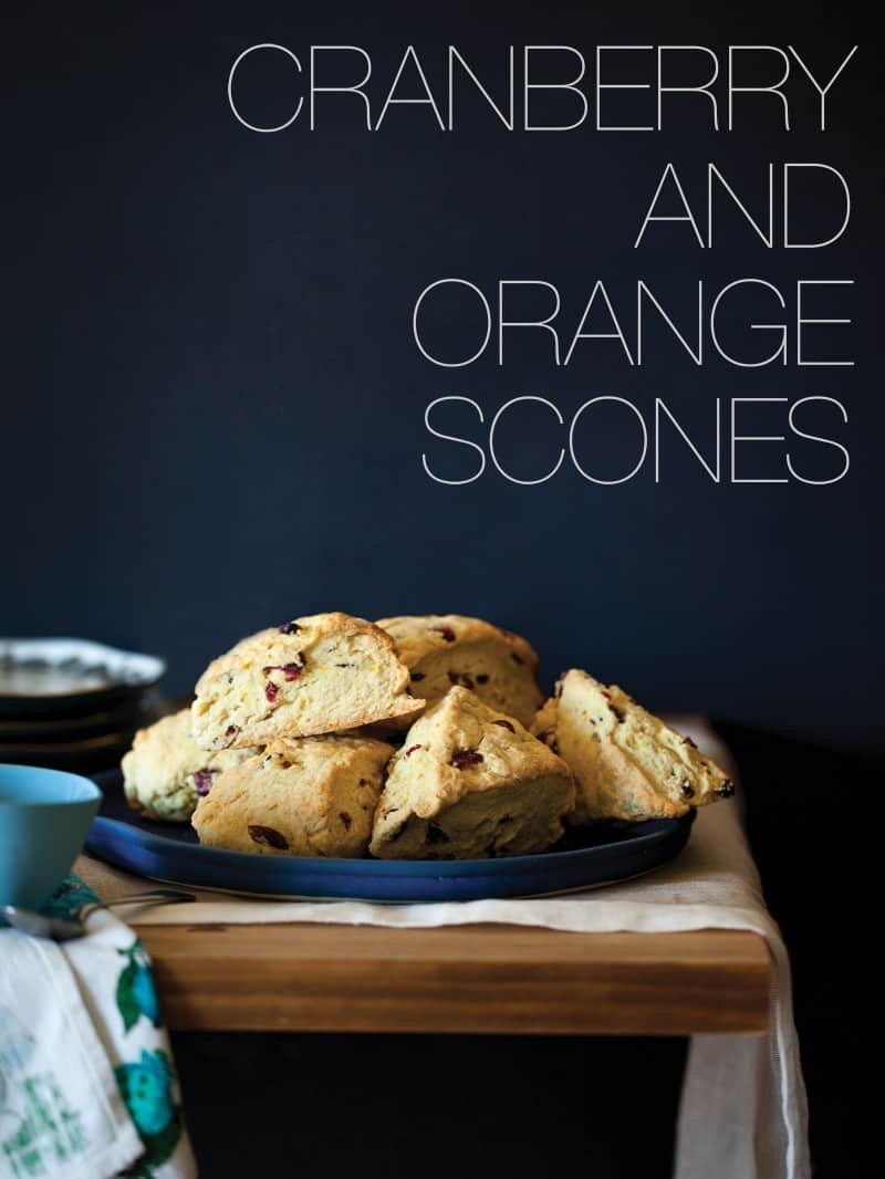 A recipe for Cranberry and Orange Scones.