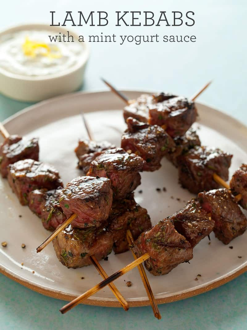 Lamb Kebabs with a Mint Yogurt Sauce recipe