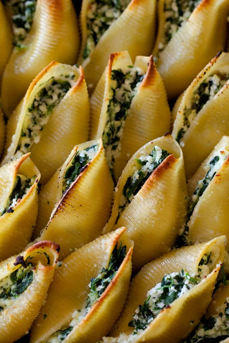 Simple Spinach and Ricotta Stuffed Shells recipe.