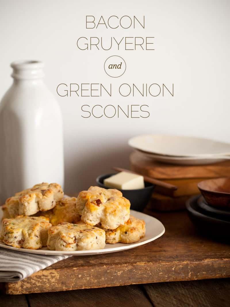 Bacon Gruyere & Green Onion Scones