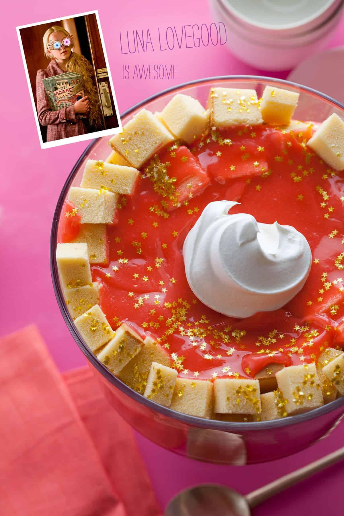 luna lovegoods pudding dessert recipe spoon fork bacon