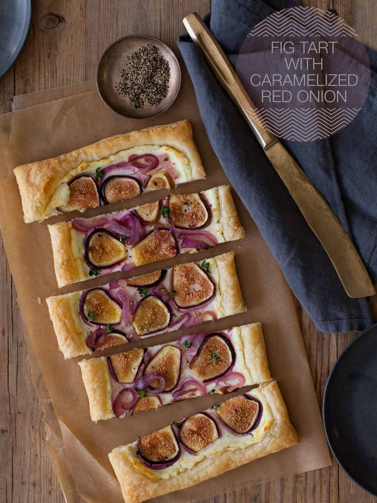 Fig Tart With Caramelized Red Onion Spoon Fork Bacon
