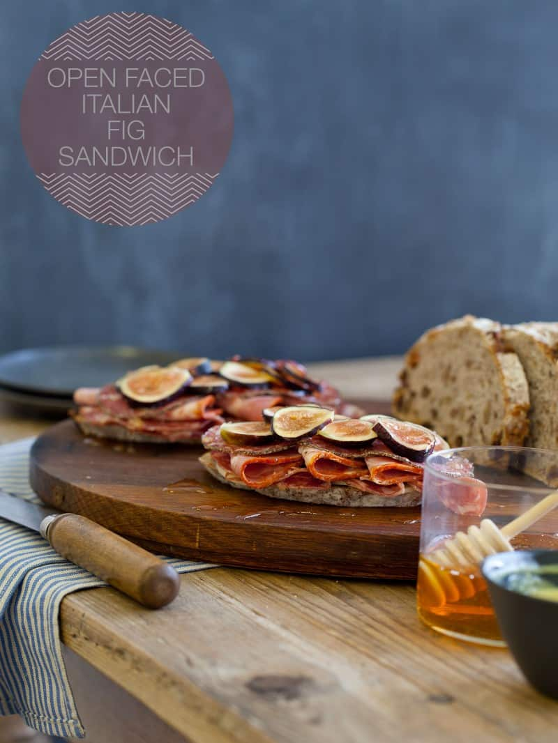 Open Faced Italian Fig Sandwich recipe.