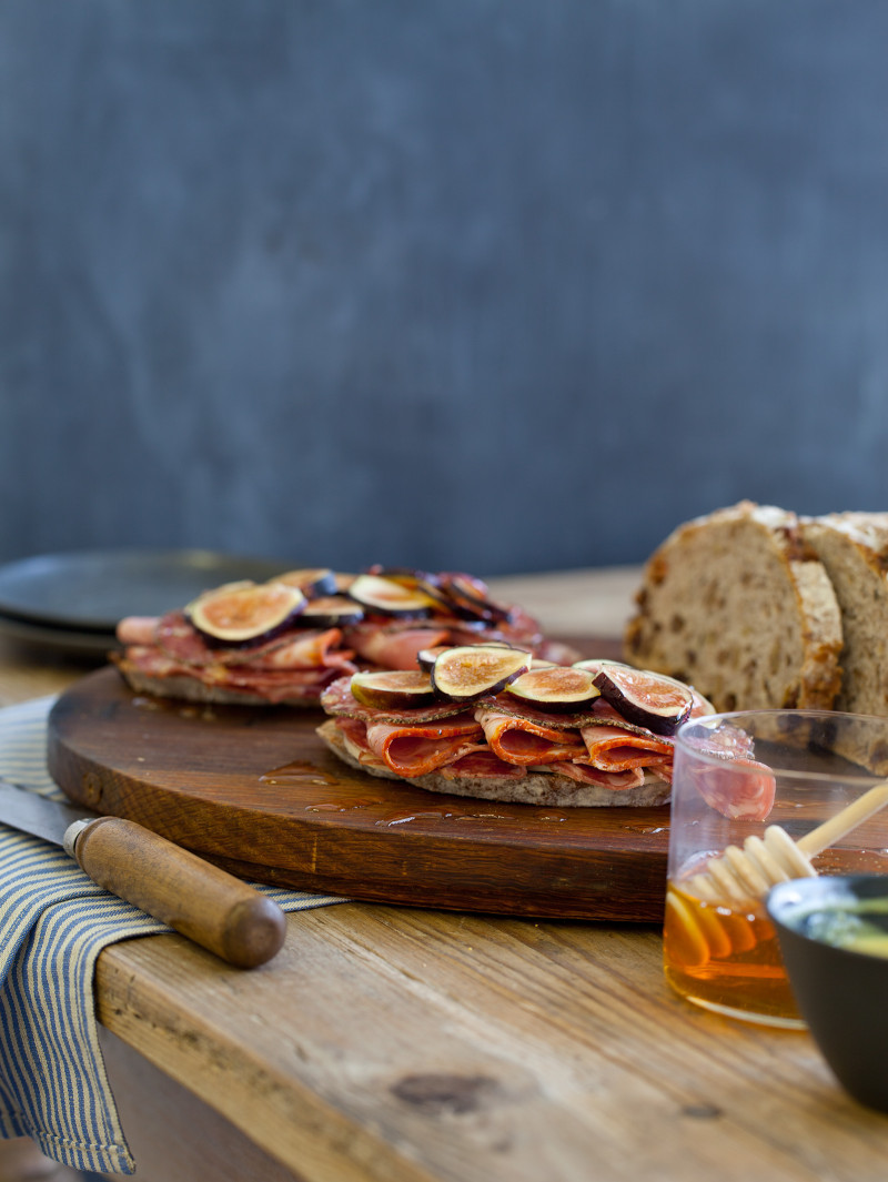 Open Faced Italian Fig Sandwich recipe.