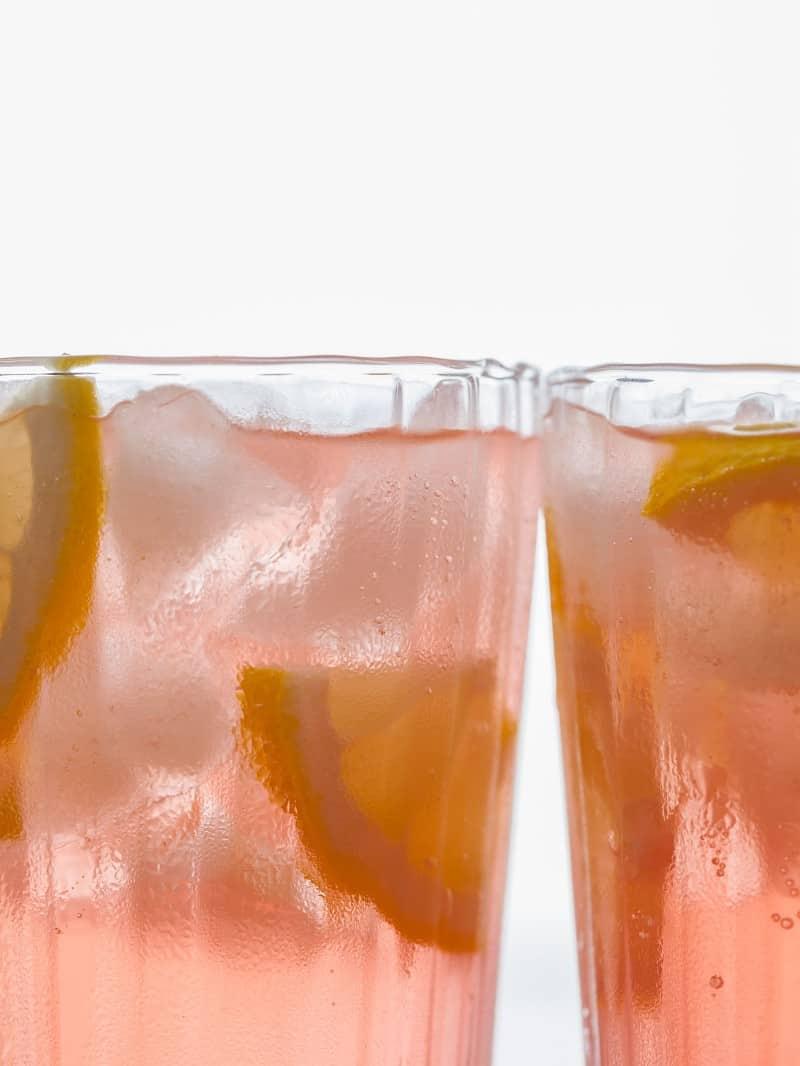 Grown up Pink Lemonade drink recipe.