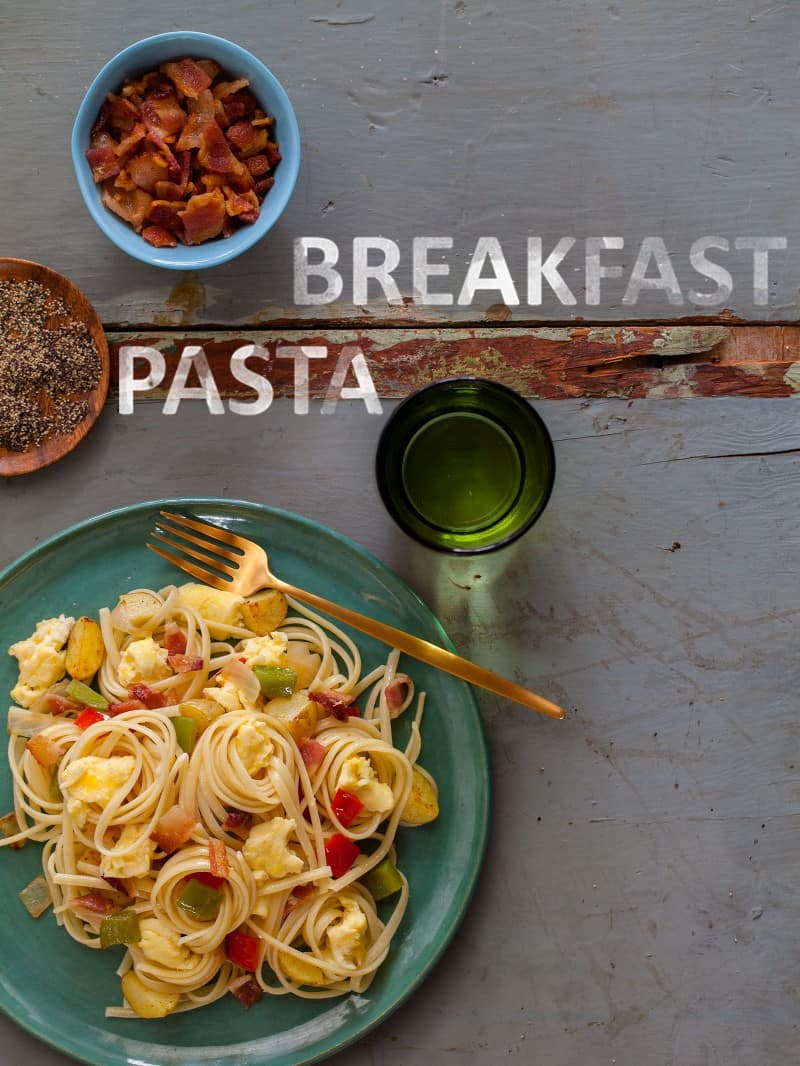 A recipe for Breakfast Pasta.