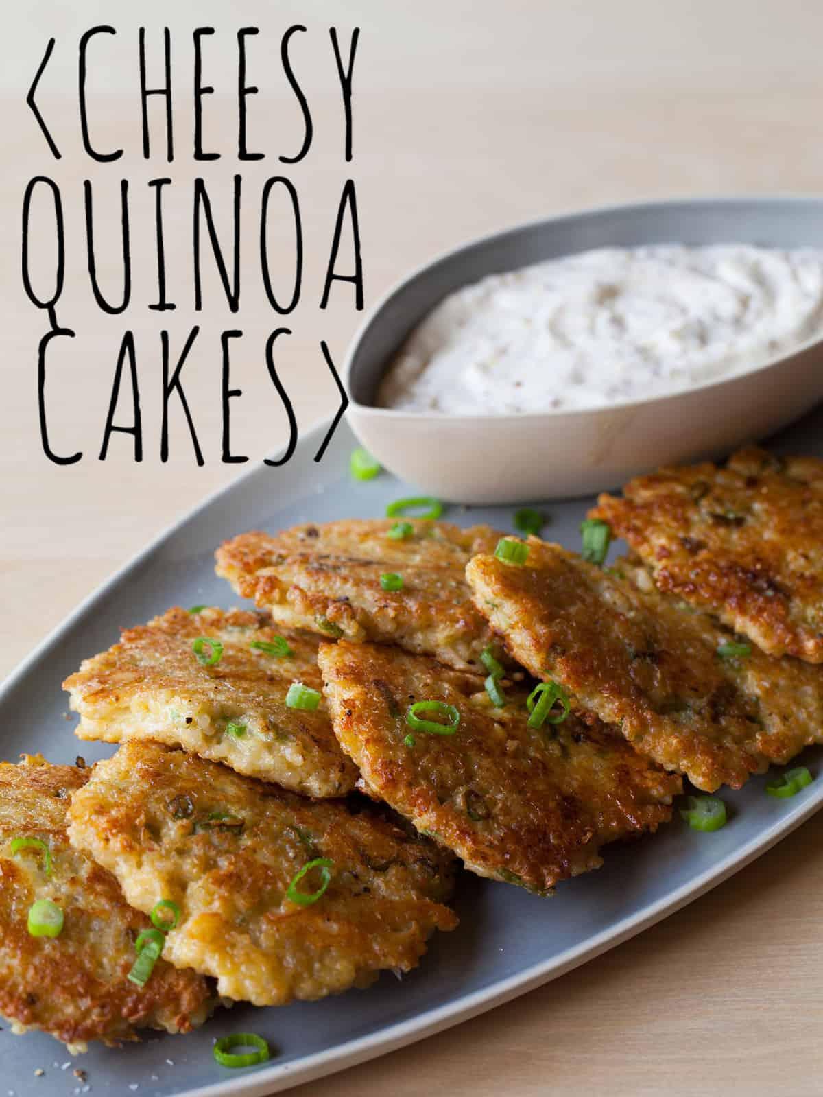 Cheesy Quinoa Cakes | appetizer recipe | Spoon Fork Bacon