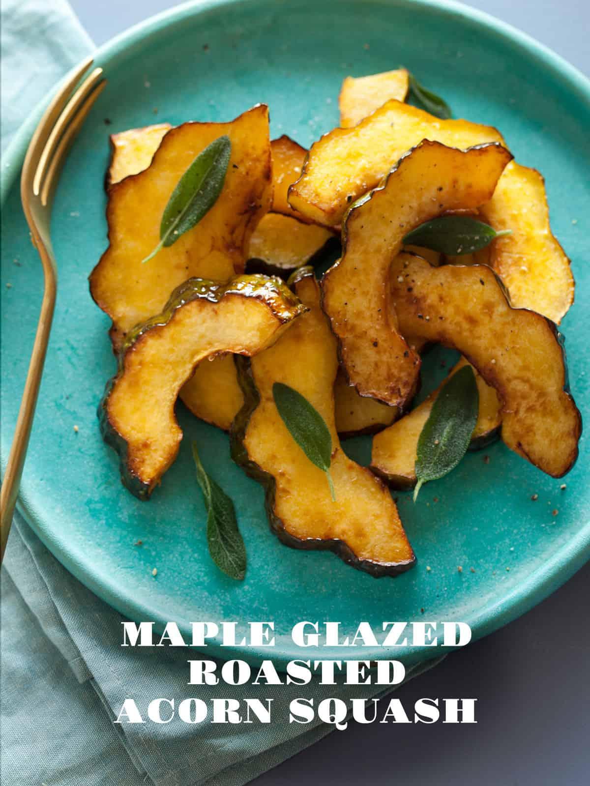 Maple Glazed Roasted Acorn Squash recipe | Spoon Fork Bacon