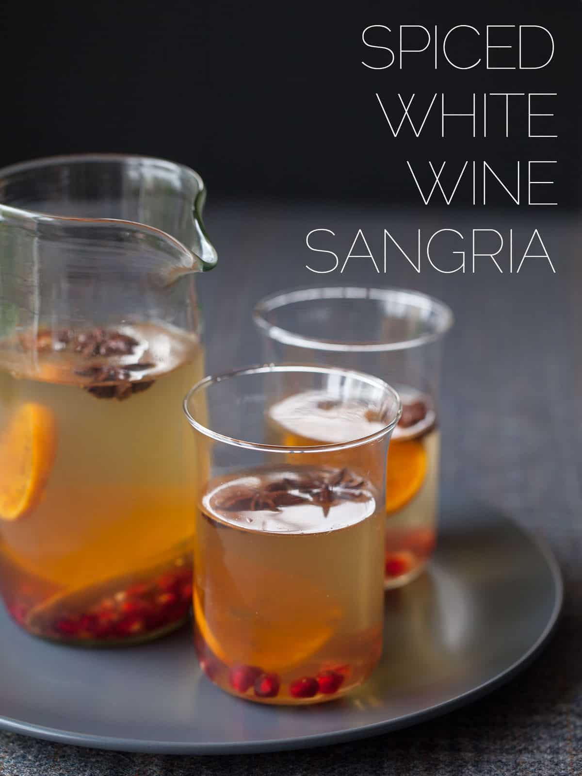Spiced white wine sangria cocktail recipe spoon fork bacon for Cocktail recipes with white wine