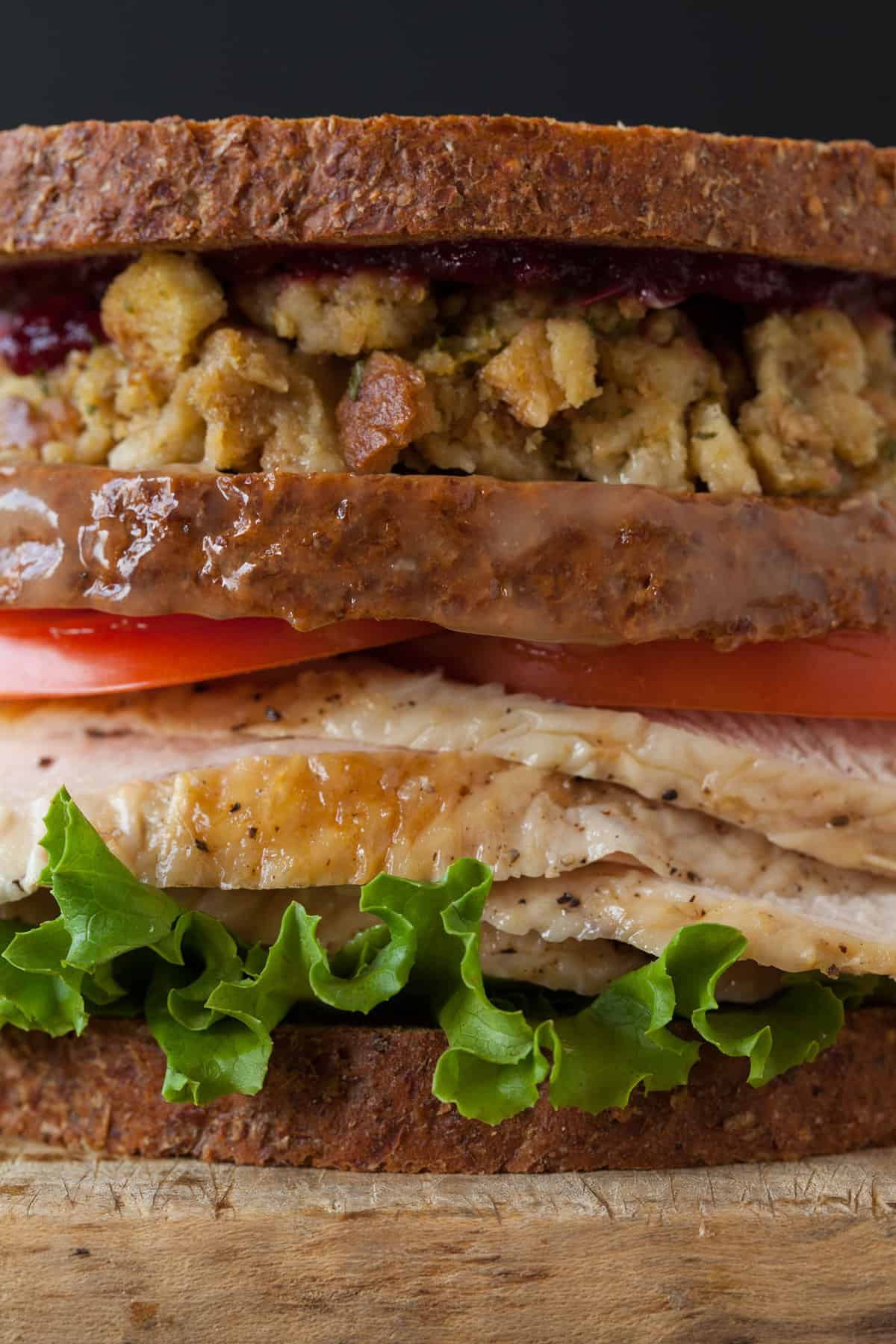 Thanksgiving turkey sandwichwith a moist maker spoon fork bacon thanksgiving turkey sandwich recipe with a moist maker forumfinder Choice Image