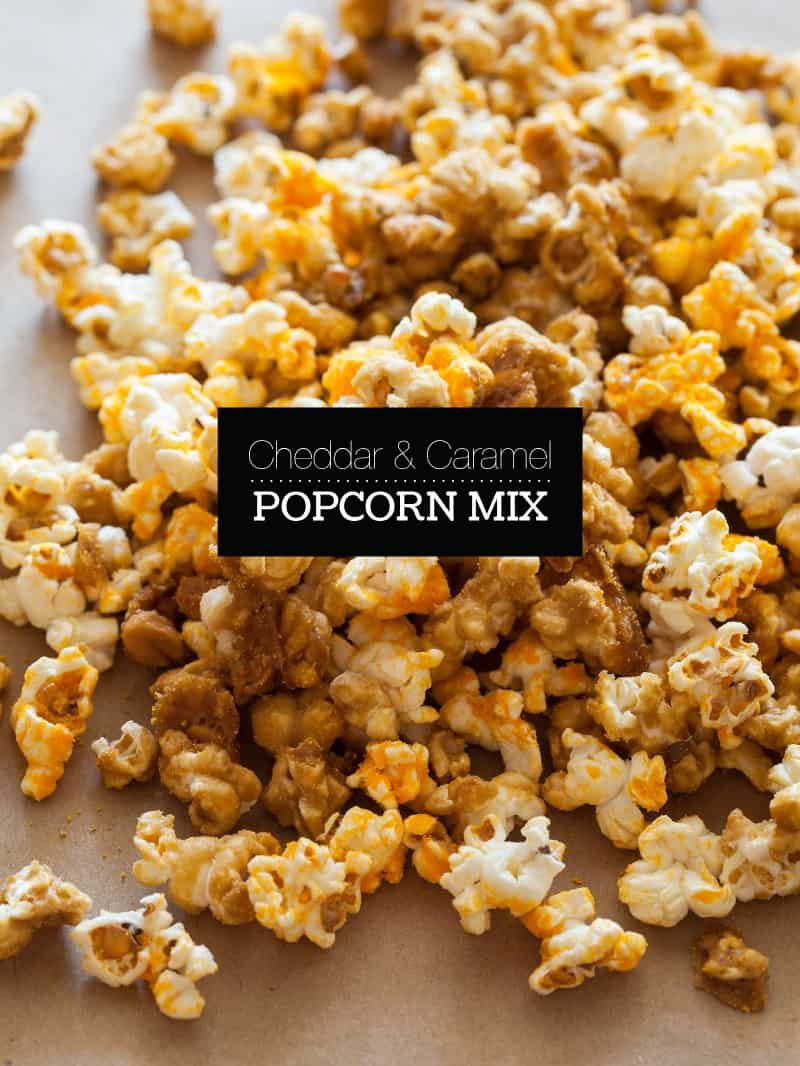 Cheddar and Caramel Popcorn Mix recipe | Spoon Fork Bacon