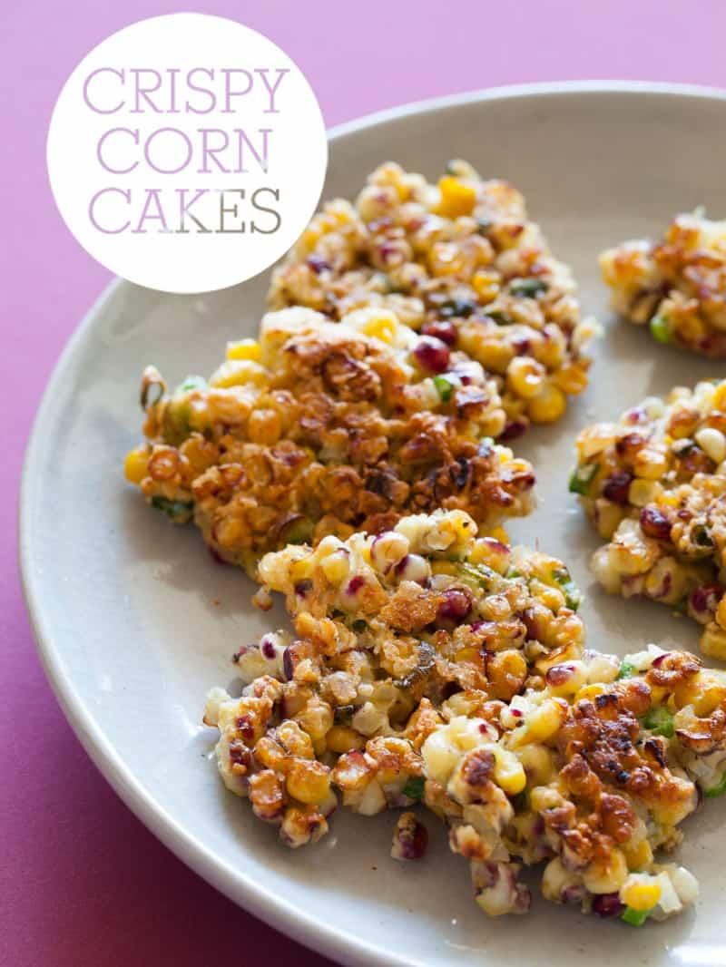 A recipe for Crispy Corn Cakes.