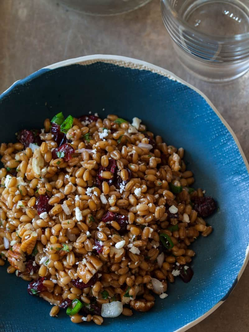 A recipe for a Light and Fresh Wheat Berry Salad.