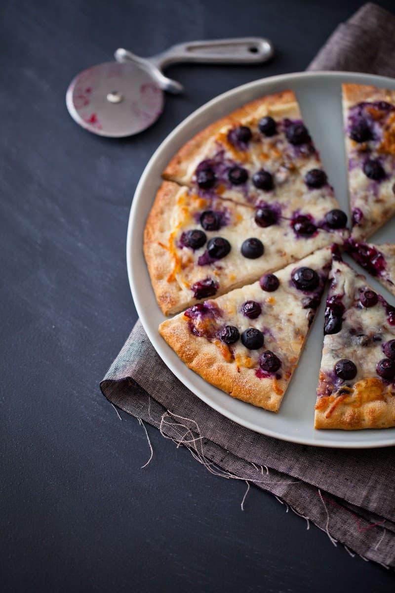 Blueberry Pizza with cinnamon and sugar recipe.