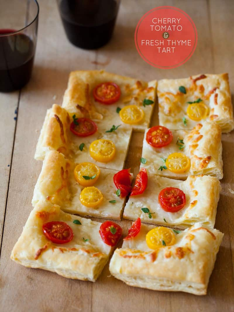 A recipe for a quick and easy Cherry Tomato Tart.