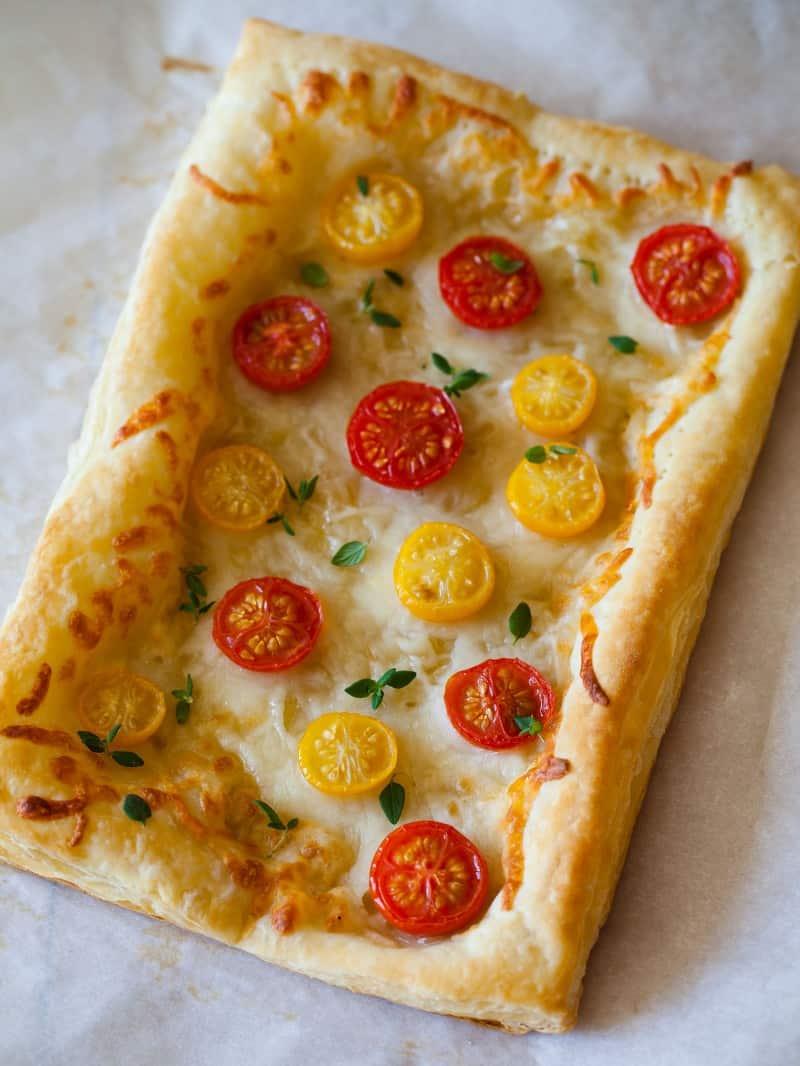 Cherry Tomato and Fresh Thyme Tart recipe.