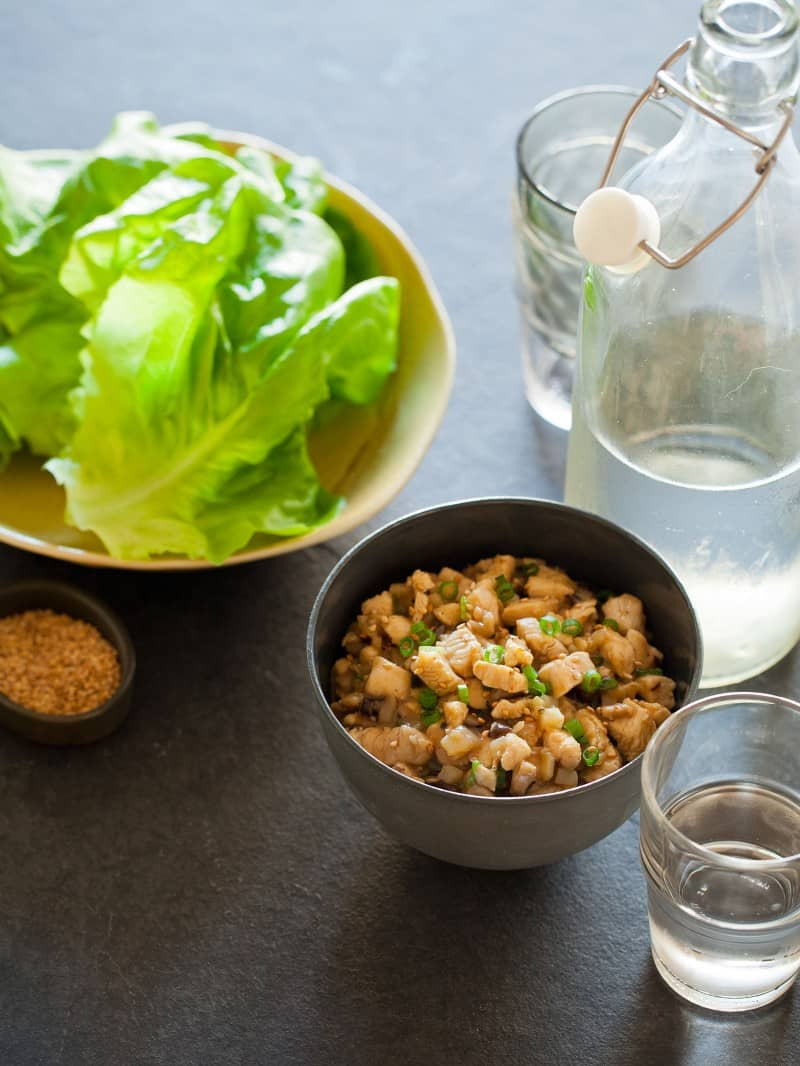 com - Chicken Sausage Lettuce Wraps Recipe - Detail - Square