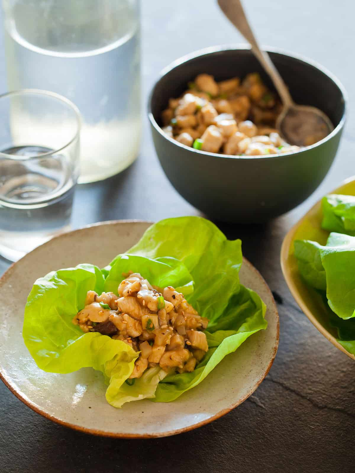 Chicken lettuce wraps dinner recipe spoon fork bacon easy recipe for chicken lettuce wraps forumfinder Images