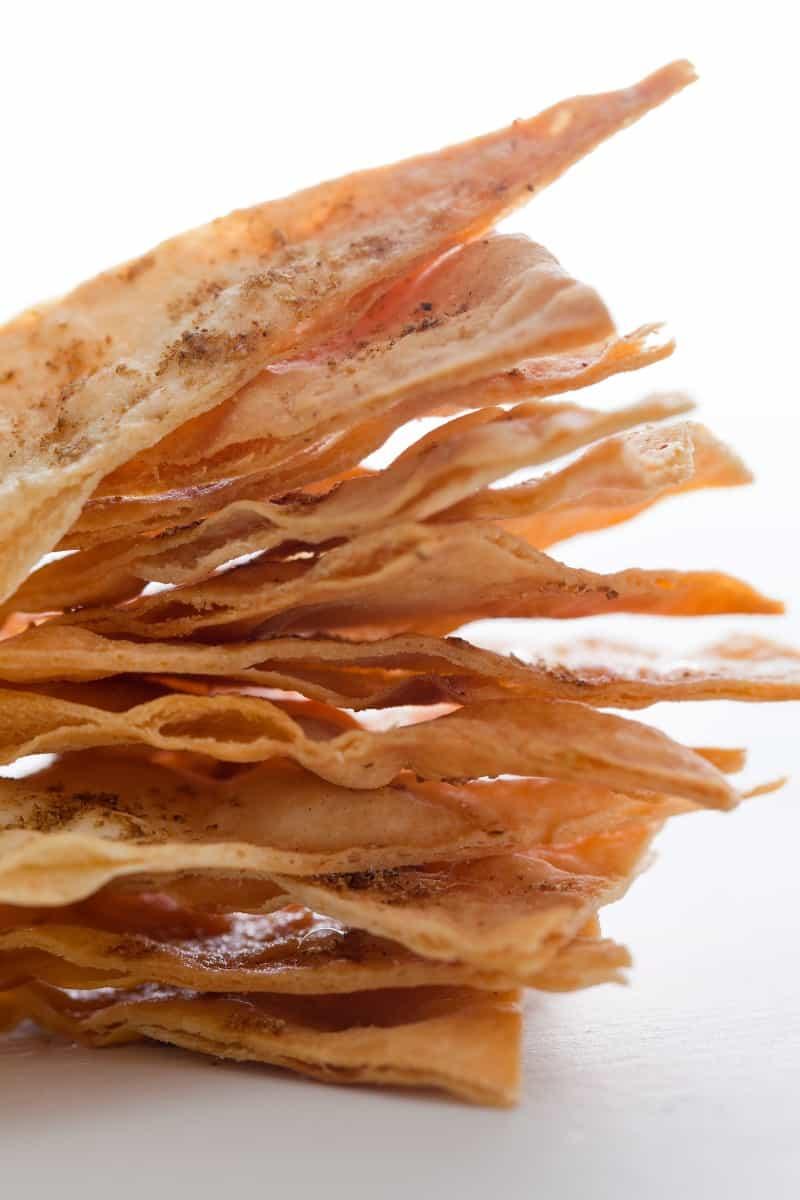 Cumin flatbread chip recipe, pairs great with Sweet Potato Hummus.