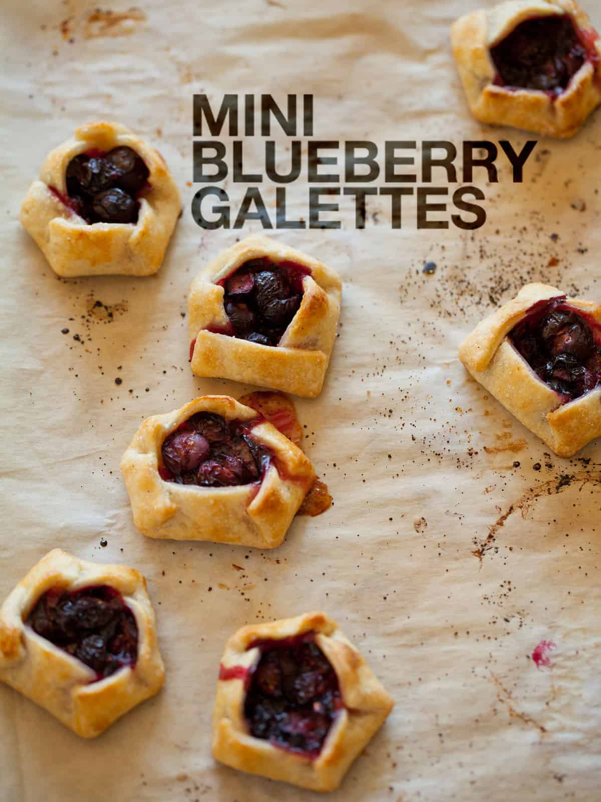 Mini Blueberry Galettes | Dessert recipe | Spoon Fork Bacon