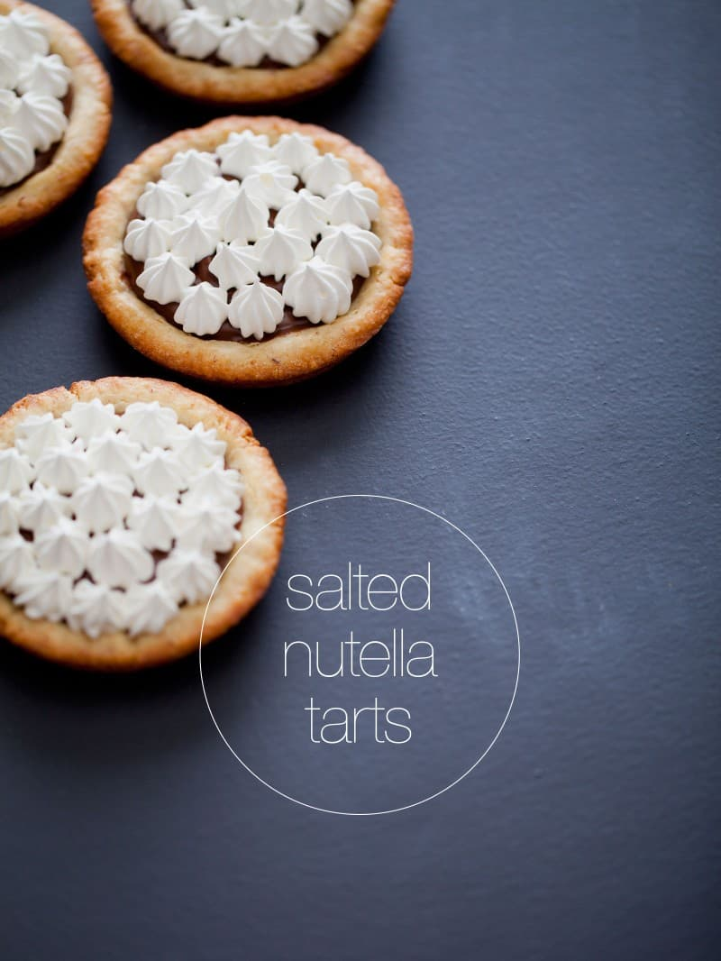 A recipe for Salted Nutella Tarts.