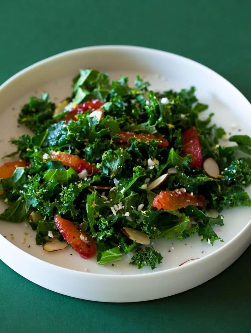 Blood Orange and Kale Salad with a Balsamic Vinaigrette recipe