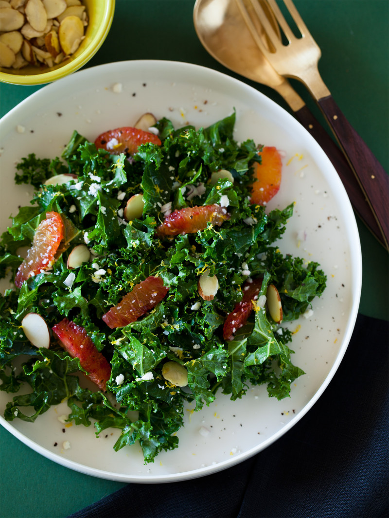 Blood Orange and Kale Salad with a Balsamic Vinaigrette