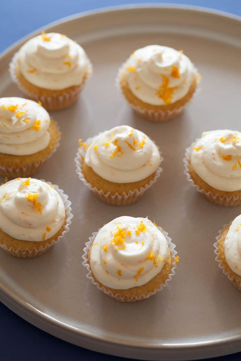 Blue Moon Cupcake recipe with orange zest.