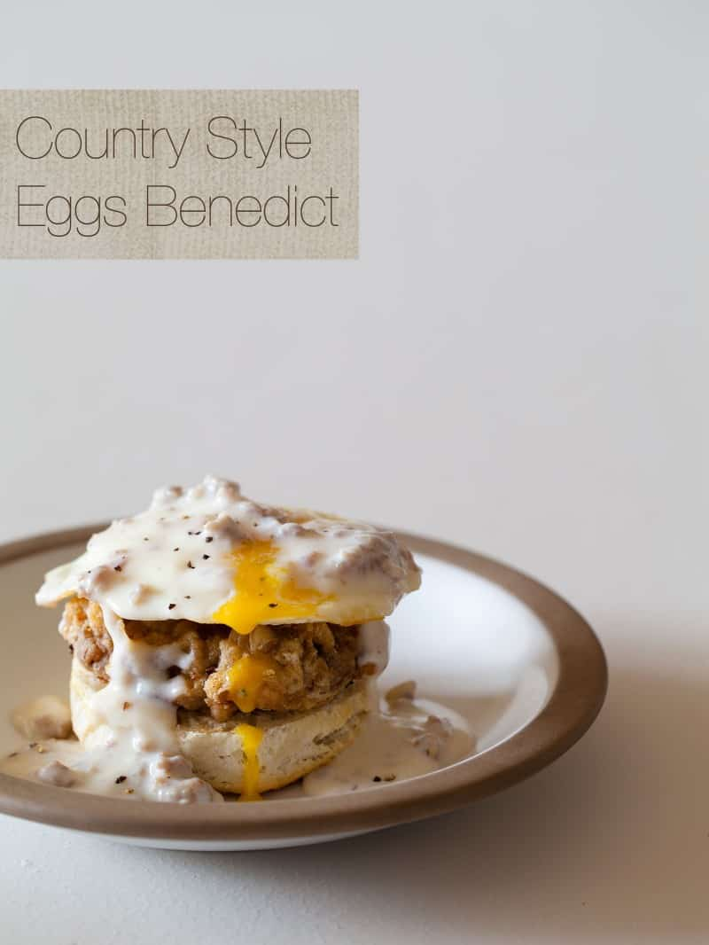 A recipe for Country Style Eggs Benedict.