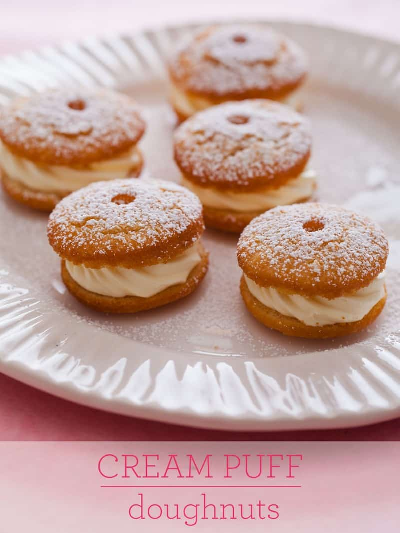 A recipe for Cream Puff Doughnuts