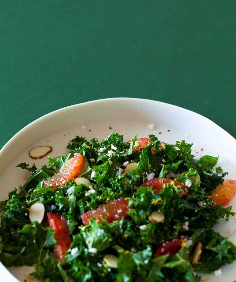 A recipe for Blood Orange and Kale Salad