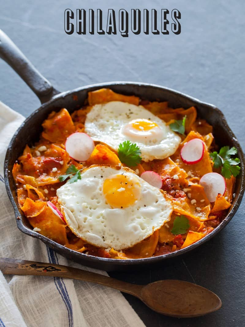A recipe for Chilaquiles.