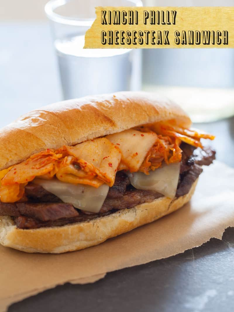 Kimchi Philly Cheesesteak recipe.