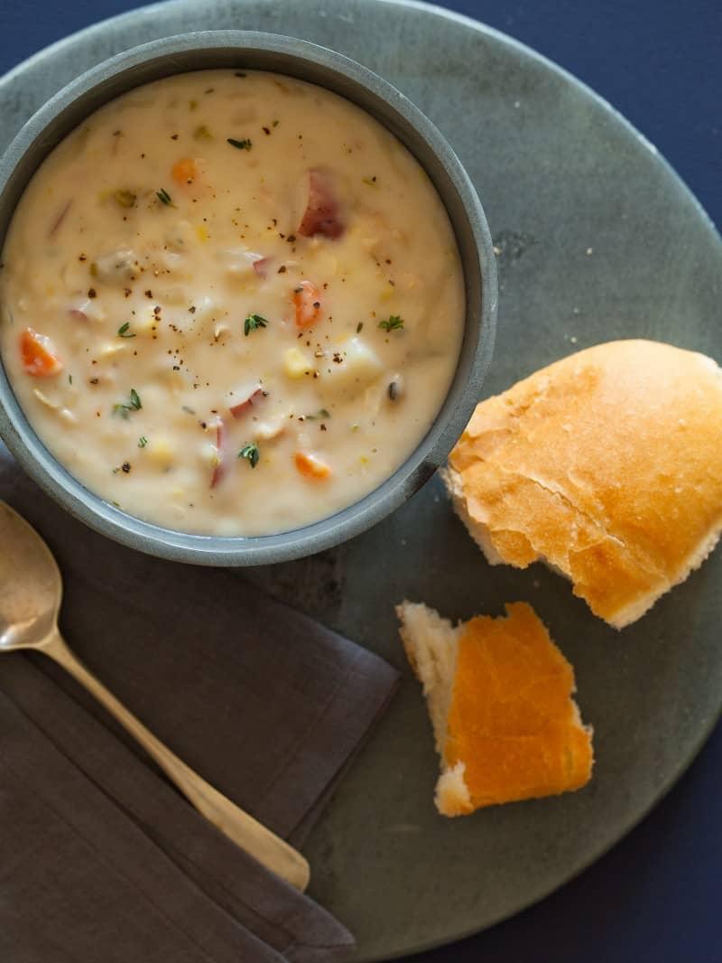A recipe for New England Clam Chowder.