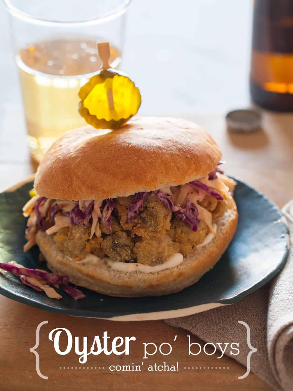 Oyster po boy | Yummy FOOD | Pinterest