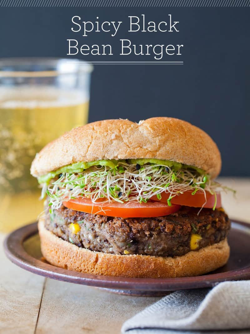 A recipe for Spicy Black Bean Burger.