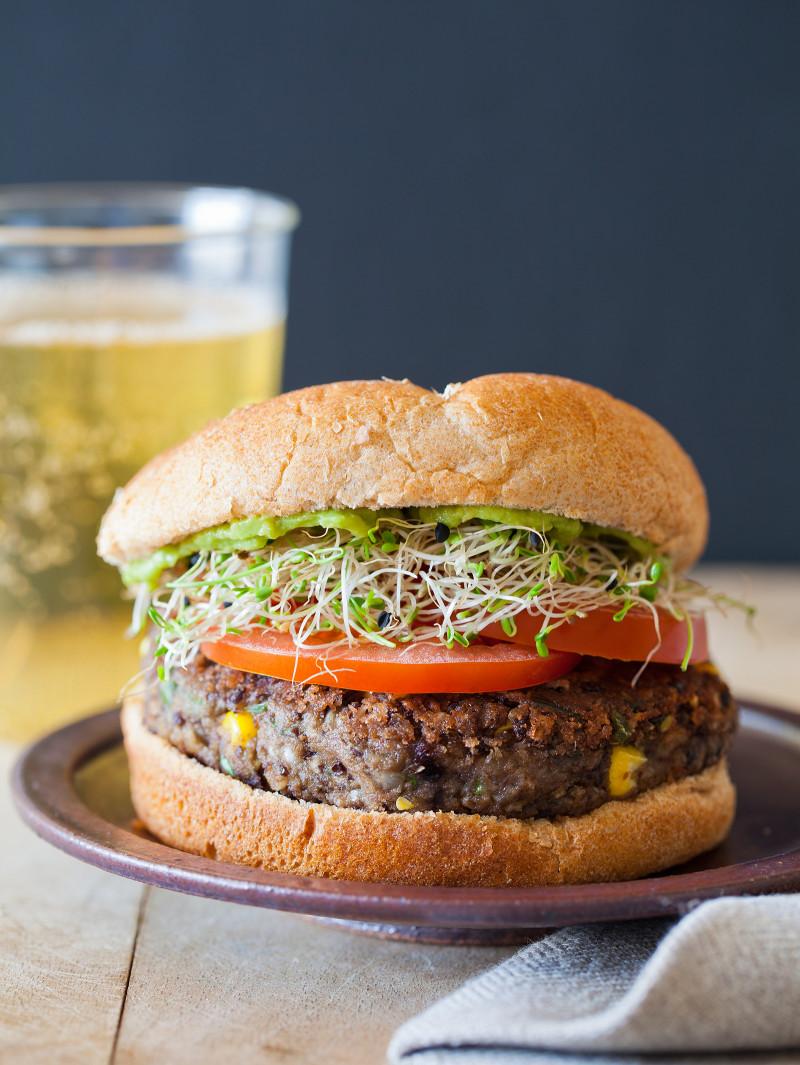 A recipe for Spicy Black Bean Burger.