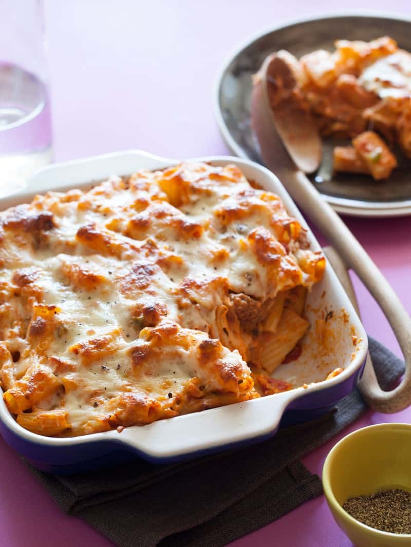 A Baked Ziti casserole recipe perfect for dinner.