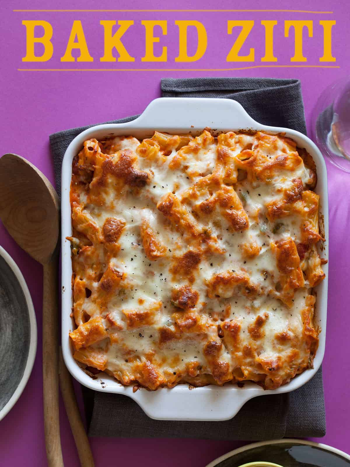Baked Ziti | Easy Dinner recipe | Spoon Fork Bacon
