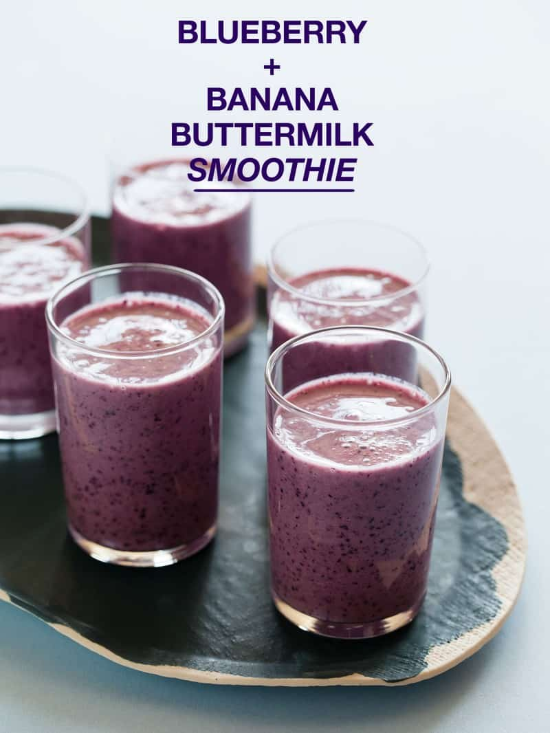 Blueberry and Banana Buttermilk Smoothie recipe.