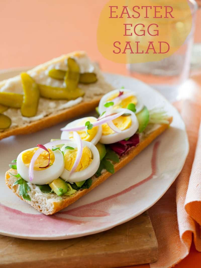 A recipe for a deconstructed Egg Salad Sandwich.