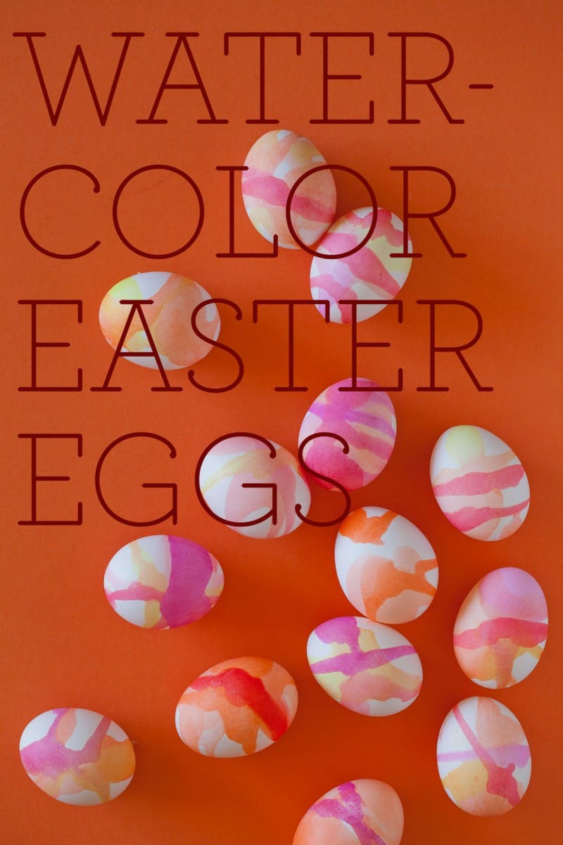 Watercolor Easter Egg how to.