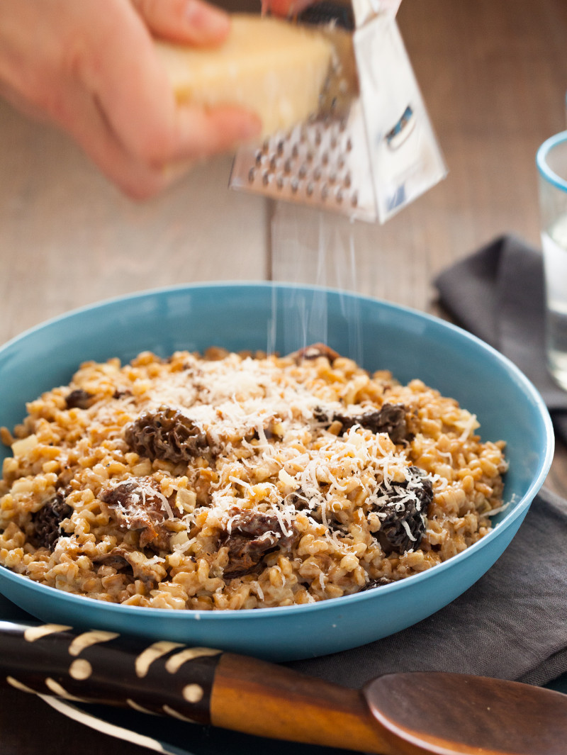 A recipe for a Wild Mushroom Farro Riotto.