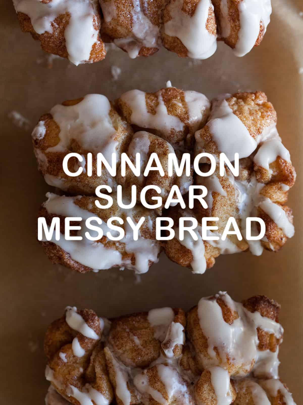 cinnamon sugar messy bread dessert recipe spoon fork bacon