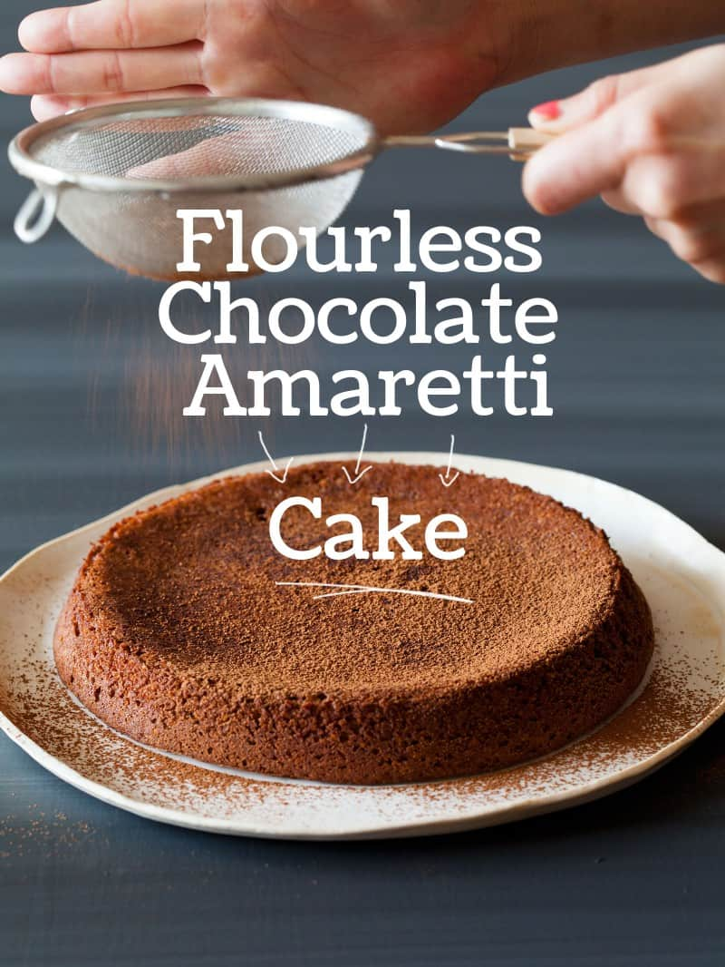 A recipe for a Flourless Chocolate Amaretti Cake