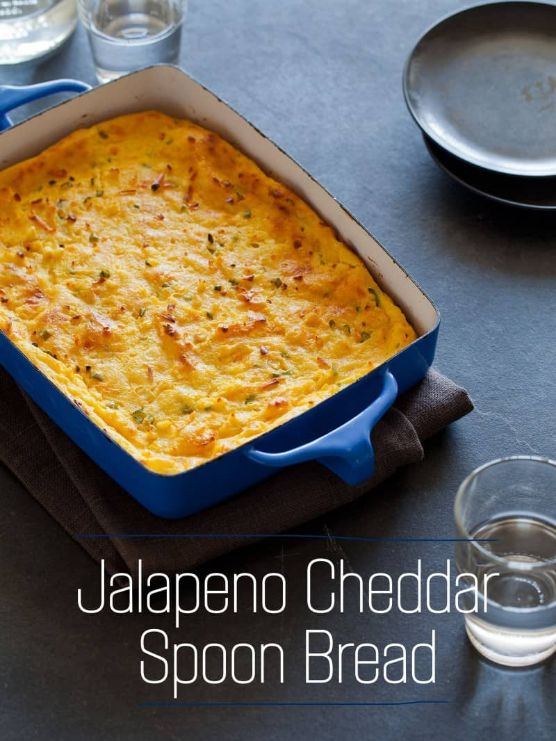 A recipe for Jalapeno Cheddar Spoon Bread.