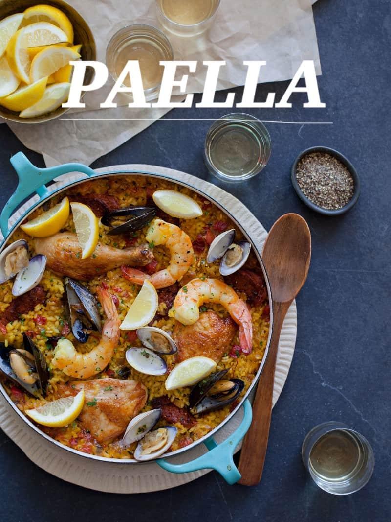 Paella recipe.