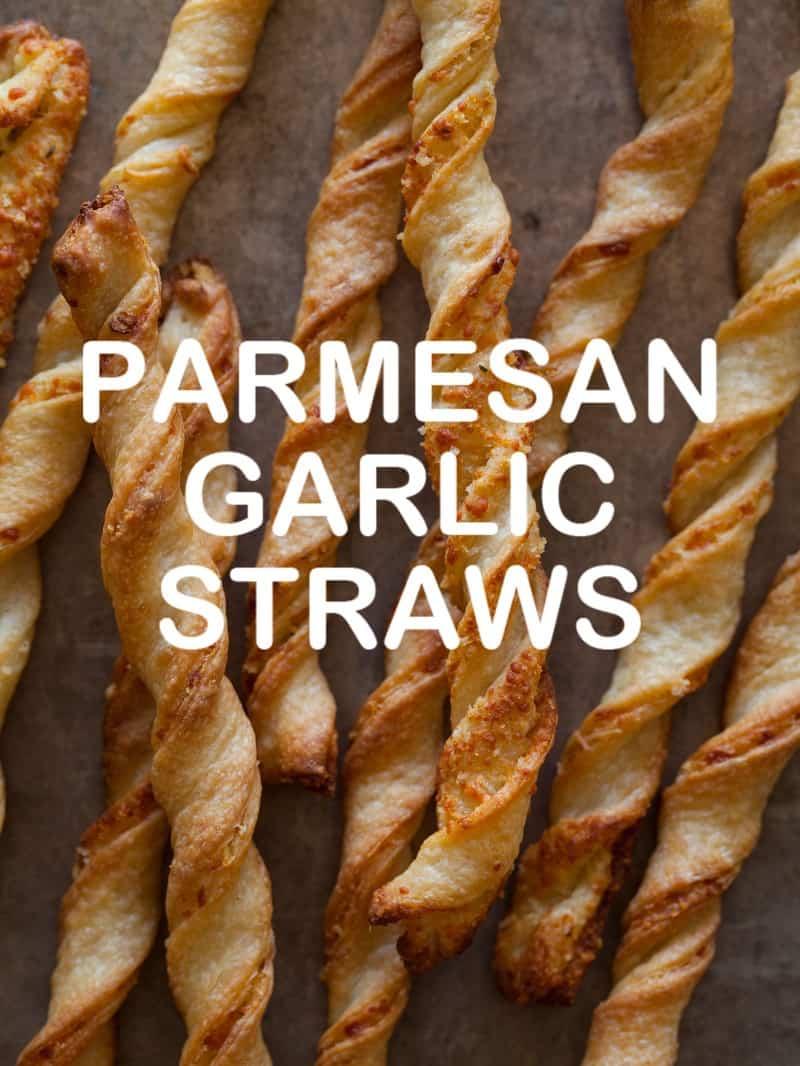 A recipe for Parmesan Garlic Straws.