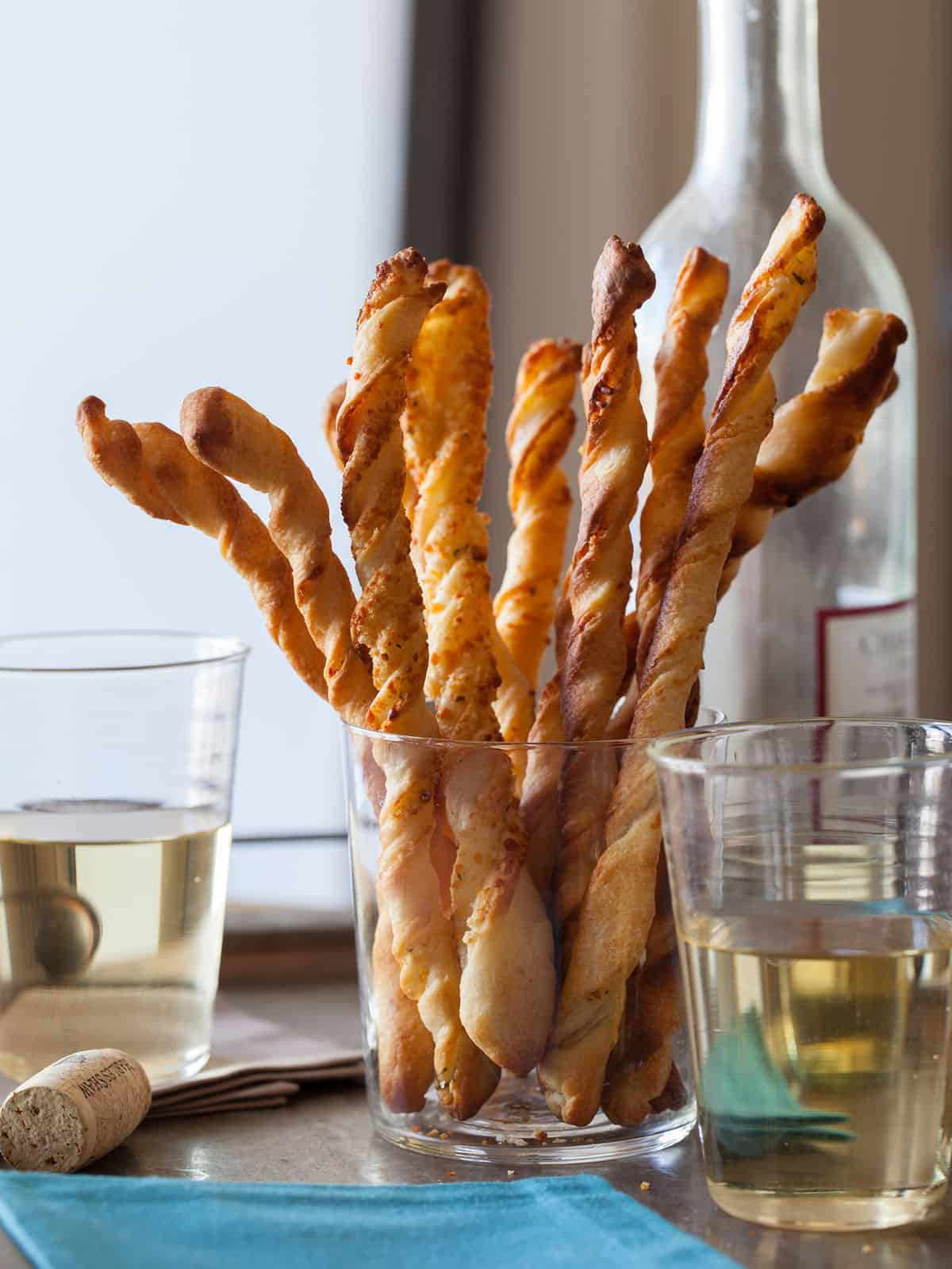 Parmesan Garlic Straws Appetizer Recipe Spoon Fork Bacon