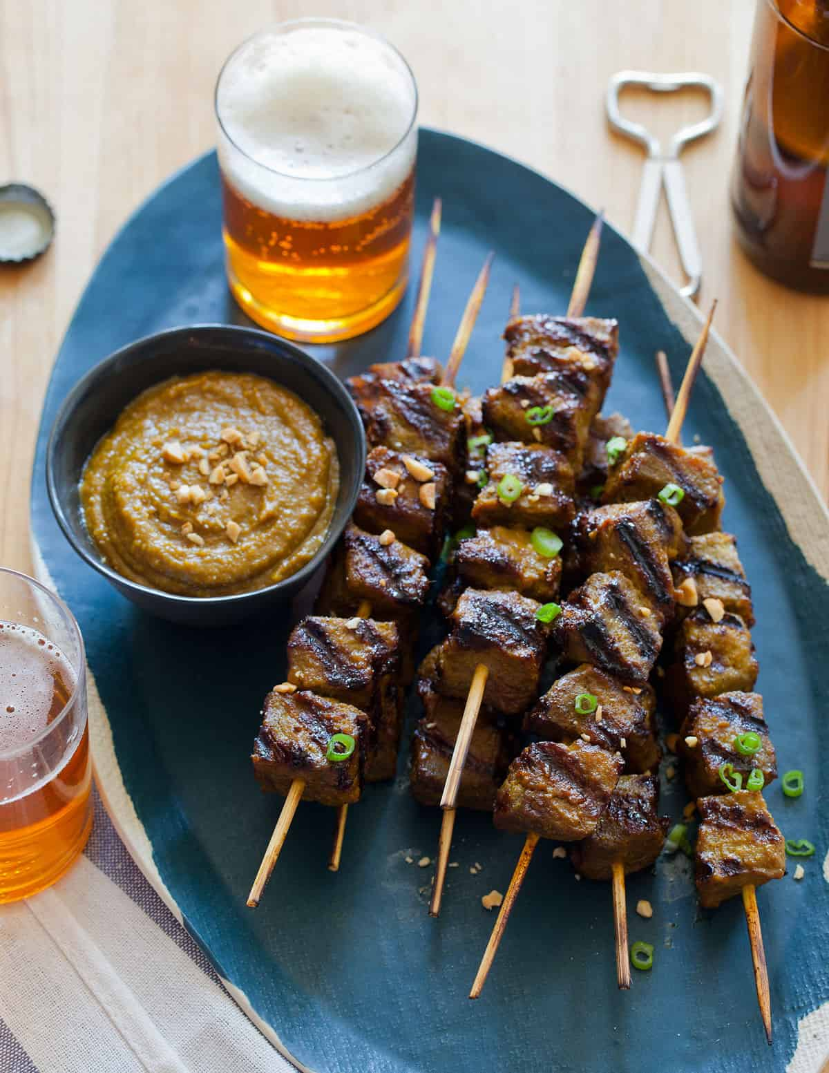 satay with peanut dipping beef satay with hoisin dipping beef satay ...